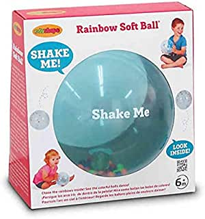 Edushape Sensory Toy Ball For Baby And Toddlers (7 Inch) - Multi-Color Mini Noisemaker Balls Inside - Fine Motor Skills Developmental Toy for Babies, Toddlers, Infants and Kids
