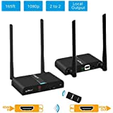 gofanco Multi-Channel Wireless HDMI Extender Kit (1 TX & 1 RX) – Expandable up to 2 TX's & 2 RX's, 5GHz, 10 channels, HDMI loopout, 1080p, 165ft (50m), IR extension, dual antenna (HDwirelessMulti)