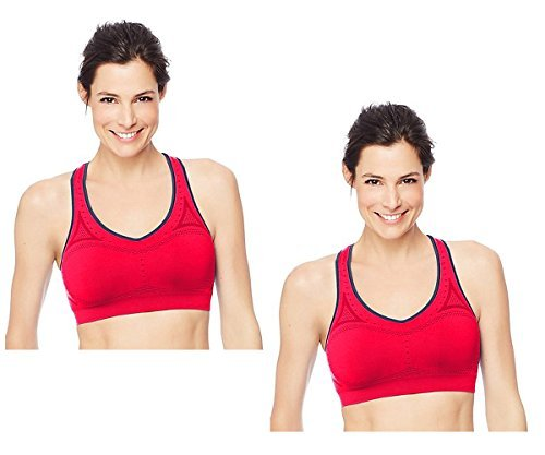 5c9894070d629 Galleon - 2-Pack Hanes Women s Jogbra Seamless Racerback Sports Bra (Small
