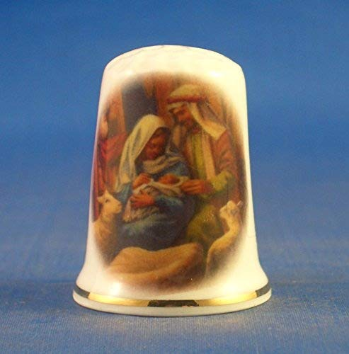 birchcroft in porcellana cinese collezione ditale di Giuseppe e Maria presepe Birchcroft China