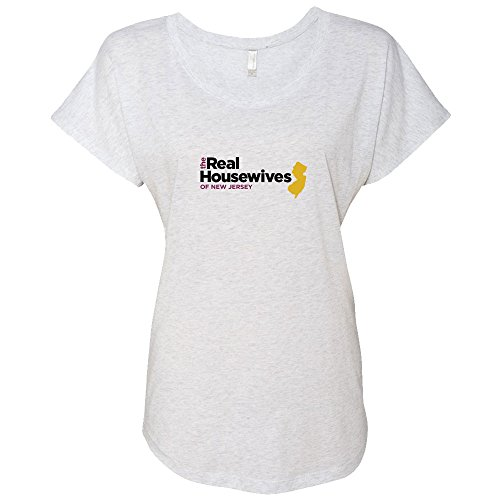 NBC Universal The Real Housewives of New Jersey Ladies Tri-Blend Dolman - Heather White - - Women Real Tri