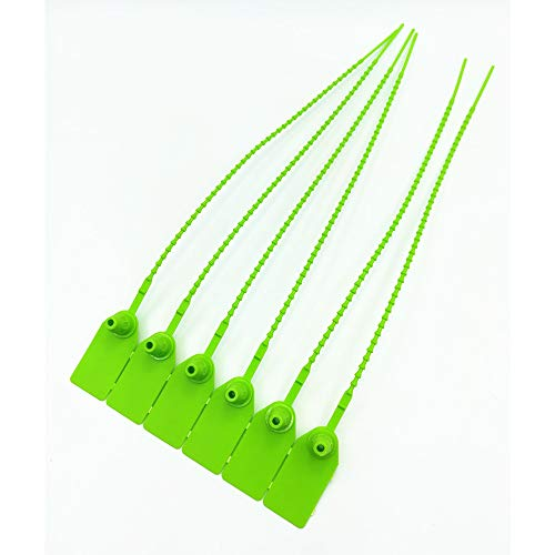 PZRT 50pcs Plastic High Security Seal with Metal Insert Adjustable Self-Locking Pull Tight Cable Ties Tags Disposable Wire Padlock for Cargo Container Seal Lock