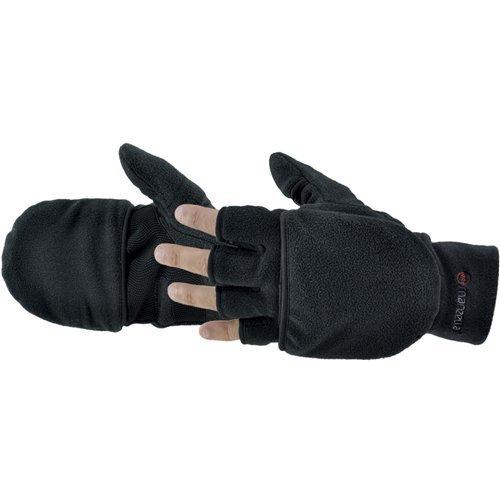Manzella Men's Cascade Convertible Gloves (Black, Medium)