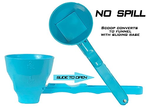 Slide Scoop a measuring funnel for use with your Water bottl
