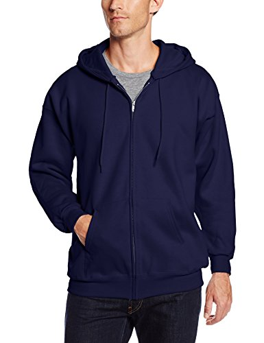 Hanes Men's Ultimate Cotton Full Zip Fleece Hood -f280, Deep Navy, Small -