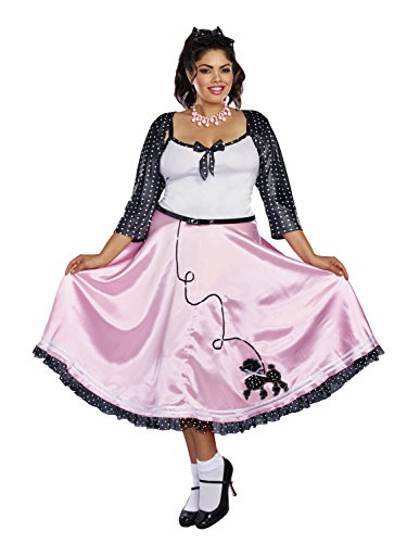Dreamgirl Women's Rock Around The Clock Plus Size,
