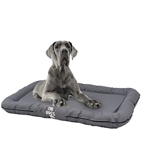 The Dog's Bed, Premium Waterproof Dog Bed, 7 Colors & 5 Sizes, Luxury Embroidered Dog Beds, Finest Quality Durable Oxford Fabric, Washable & Replaceable Cover, Boarding Kennel, Pet & Puppy Favorite:) by The Dog's Balls