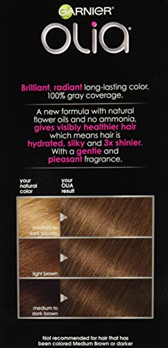 Garnier Olia Hair Color, 6.0 Light Brown, Ammonia Free ...