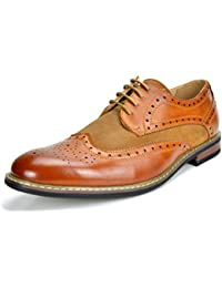 Bruno Marc Men's Prince Leather Lined Wing Tips Oxfords Dress Shoes