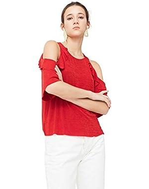 Mango Women's Off Shoulders T-Shirt
