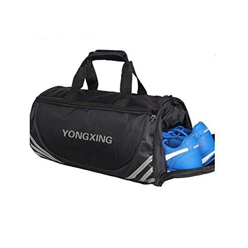 Große Sport Duffel Taschen Gym Zubehör Taschen Reisetasche mit Schuhfach, F