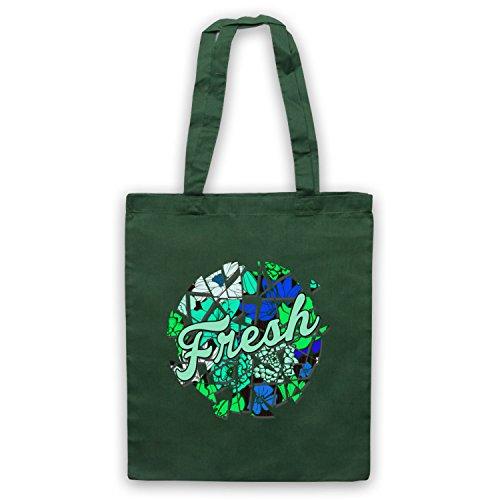 Fresh Slogan Bolso Verde Oscuro