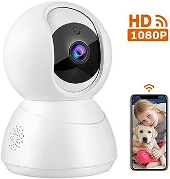 Ip Kamera Hd 1080p Wlan Überwachungskamera Ip Kamera Schwenkbar Mit Bewegungserkennung Nachtsich Und 2 Wege Audio Unterstützung Android Ios Für Baby Haustier Überwachung Weiß Baumarkt