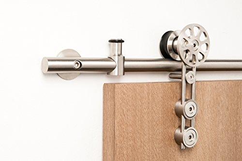 Double Door Set Modern Stainless Steel Barn Door Hardware For Wood