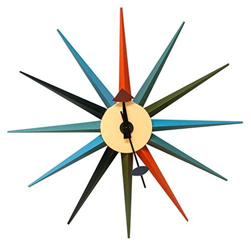 Ergo Furnishings Sunshine Metal Wall Clock ()