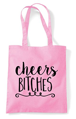 Bitches Tote Statement Pink Light Shopper Bag Cheers FdExnqd