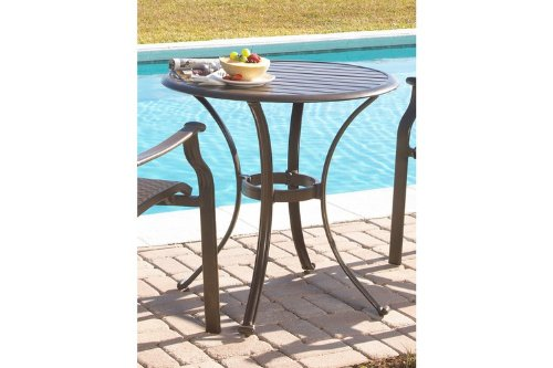 "Panama Jack Outdoor PJO-1001-ESP-BT Island Breeze 30-Inch Slatted Aluminum Bistro Dining Table, 29"" x 30"" x 30"", Espresso - Extruded Aluminum Frame that will not rust Beautiful slatted aluminum top and Weather and UV resistant Sturdy aluminum legs for extra support - patio-tables, patio-furniture, patio - 41zNtEJYfuL -"