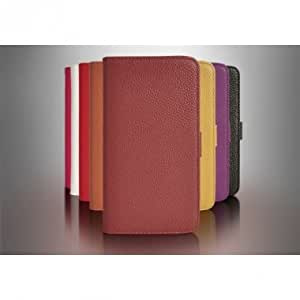 Litchi Stria Pattern Wallet Synthetic Leather Case For Samsung N7100 --- Color:Orange