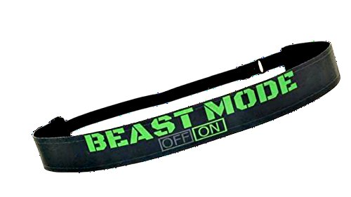 RAVEbandz Exclusive Fashion Headbands (BEAST MODE) - Adjustable, Non-Slip Sports & Fitness Hair Bands for Women and Girls