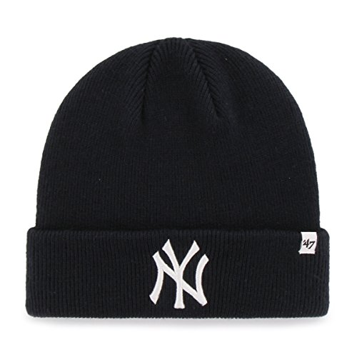 (MLB New York Yankees '47 Raised Cuff Knit Hat, Navy, One Size)