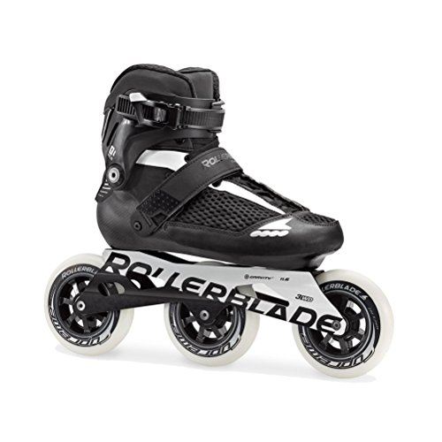Carbon Womens In Line Skates - Rollerblade Endurace 110 Unisex Adult Fitness Inline Skate, Black and White, High Performance Inline Skates, US Size 7
