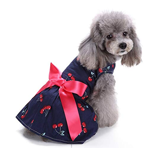 - JudyBridal Cute Small Pet Floral Dress Dog Girl Dress Pet Puppy Cat Sweetie Skirt Outfit L