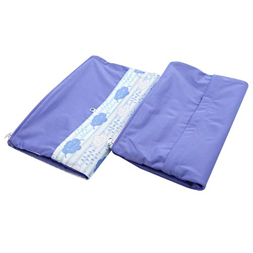 Asenappy 2PCS Cloth Diaper Waterproof Reusable Diaper Organizing Pounches with 2 Zippered Pockets Wetr Dry Bag for Travel Beach Yoga Swim