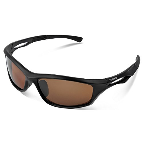 Duduma Polarized Sports Sunglasses for Men Women Baseball Running Cycling Fishing Driving Golf Softball Hiking TR90 Unbreakable Frame (Black Matte Frame with Brown - Sunglasses Golf Polarized