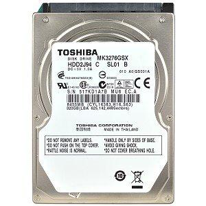 Toshiba MK3276GSX 320GB SATA/300 5400RPM 8MB 2.5″ Hard Drive