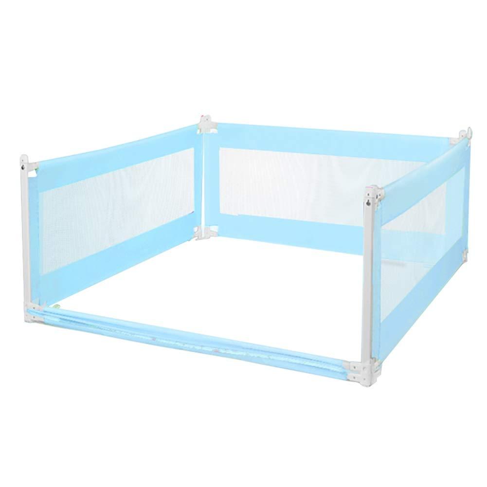 ベッドフェンス フルサイズの女王のための3面ガードレール、青い安全ベッドの柵、室内の特別なロング幼児のベッドのレールガード (サイズ さいず : 200x200x200cm) 200x200x200cm  B07PRMFNKY