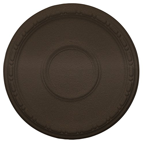 Ekena Millwork CM16MDBZS 16 Od X 1 P Medea (fits Canopies up to 5 1/2''), Hand-Painted Ceiling Medallion, Bronze by Ekena Millwork
