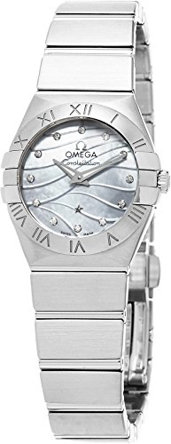 Omega Women's 12310246055003 Constellation Analog Display Swiss Quartz Silver Watch