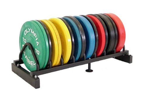 Rubber Bumper Plate Black 5 Pair Set