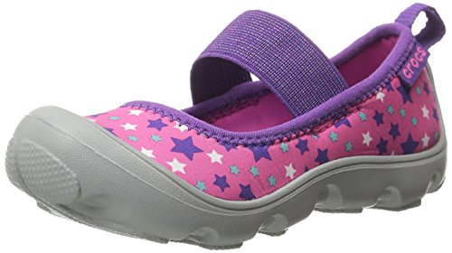 crocs Duet Busy Day Galactic PS Mary Jane (Toddler/Little Kid), Neon Magenta/Light Grey, 8 M US Toddler by Crocs