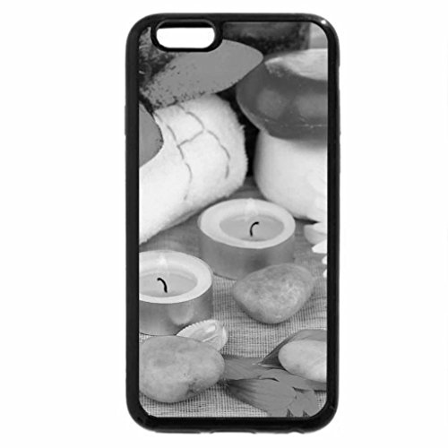iPhone 6S Case, iPhone 6 Case (Black & White) - Flowers and Candles