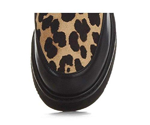 Babbucce Martin scarpe donna tondo picture basse PICTURECOLOR maniche pile Leopard 34 color stivali in 39 Plus SqnwxUU
