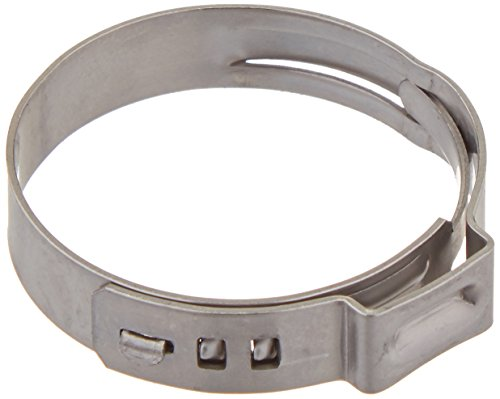 Oetiker 16700035 Stepless Ear Clamp, One Ear, 7 mm Band Width, Clamp ID Range 25.4 mm (Closed) - 28.6 mm (Open) (Pack of 50)