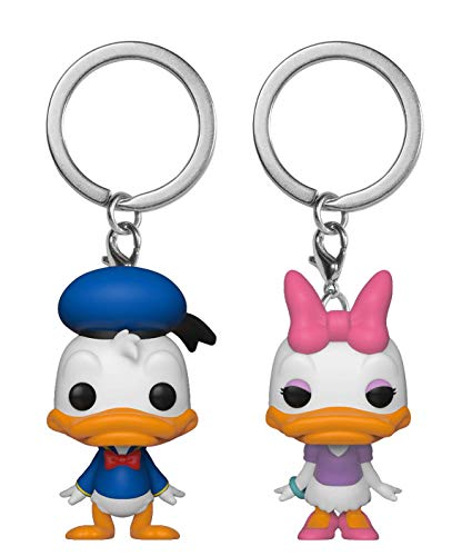Funko Pop! Keychain: Donald & Daisy 2 Pack Toy, Multicolor -