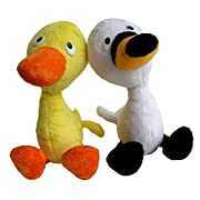 MerryMakers Duck & Goose Plush Doll Pair, 9-Inch