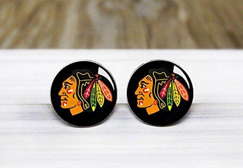 [Chicago Hockey Earrings - Hypoallergenic Earrings for Sensitive Ears] (Hockey Stanley Cup Costume)
