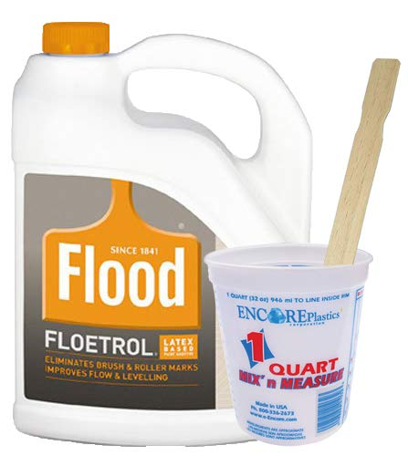 Flood FLD6 Paint Conditioner, 1 Qt Mix-N-Measure Disposable Paint Container, 20 x 14-inch Wood Mixing Sticks by Flood