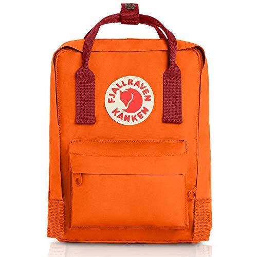 Fjallraven - Kanken Mini Classic Backpack for Everyday, Burnt Orange/Deep Red