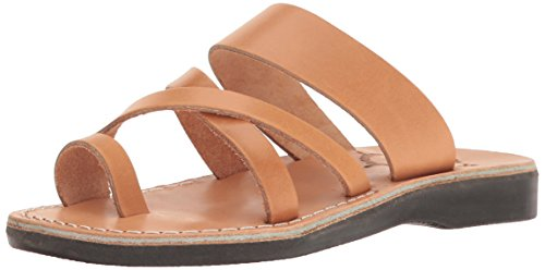 Jerusalem Sandals Women's the Good Shepherd Slide Sandal, Tan, 41 EU/10 M (Tan Ancient Treasures)