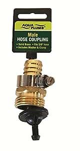 """Aqua Plumb Male Repair Coupling Hose, 5/8"""""""