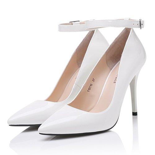 FLYRCX Europäische Mode Persönlichkeit einfach und modern lady High Heel schuh Schuh Schuh Partei schuh Heel Arbeitsschuhe Weiß bb5adb