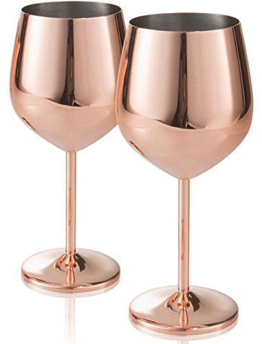 Artland Colton 18 oz. Goblet - Copper - Stainless Steel Barware - Set of 2