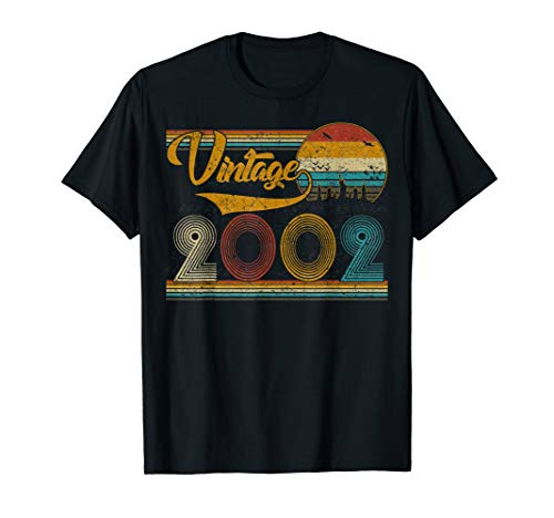 2002 Dark Green - Classic 17th birthday gift Tshirt for Men women Vintage 2002 T-Shirt