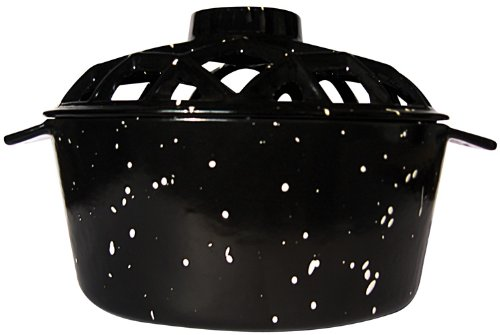 (Uniflame Porcelain Coated Lattice Top Steamer- Black with White Speckles)