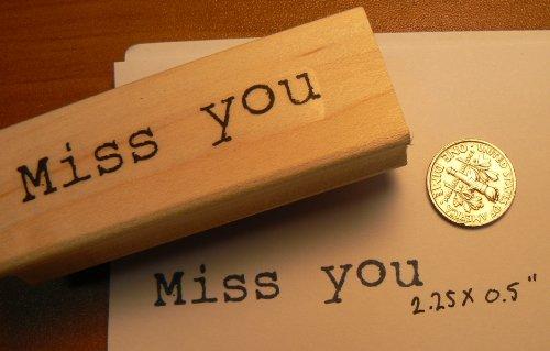 Miss you! Rubber Stamp WM P14 (Dragonfly Wood Rubber Mounted Stamp)