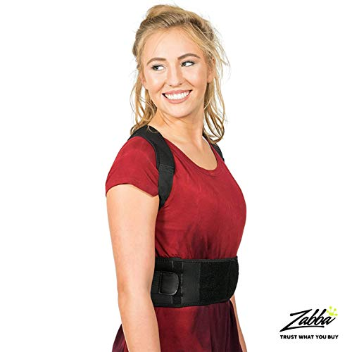 Posture Corrector for Women and Men Extra Large Best Fully Adjustable Upper Back Brace Trainer for Maximum Support Improves Slouching and Hunched Shoulders